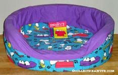 Blue and Purple Pet Bed