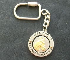 $3.00 Kentucky Key Chain - Gold Horse (51214-971) collectibles, key chains