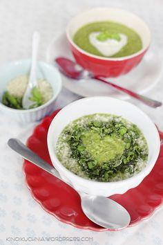 pea cream soup | food photography