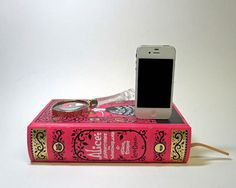 Such a beautiful way to disguise an iPhone dock. Perfect for your nightstand, desk or coffee table! #brit