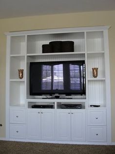 closet converted to entertainment center - Google Search