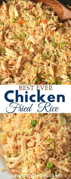 Learn how to make this easy recipe of authentic homemade chinese chicken fried rice with egg and vegetables all tossed together in a wok to make it better than takeout and just like restaurant style. Recipes chicken Better Than Takeout Chicken Fried Rice! Fun Easy Recipes, Rice Recipes, Asian Recipes, Vegetarian Recipes, Dinner Recipes, Easy Meals, Recipes For A Crowd, Easy Recipes For Beginners, Asian Food Recipes