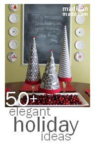 Elegant Holiday Decor Ideas ~ Madigan Made { simple DIY ideas }