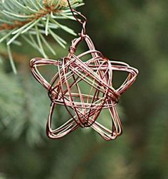 Wire star christmas ornaments // Drótból készült karácsonyfadísz csillagok // Mindy - craft tutorial collection // #crafts #DIY #craftTutorial #tutorial #ChristmasCrafts #Christmas