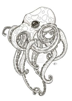I want an octopus tattoo. This is cute, but I might want mine to look menacing. Not sure  | followpics.co