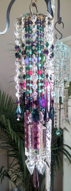 Gypsy Princess Antique Crystal Wind Chime by sheriscrystals, $234.95