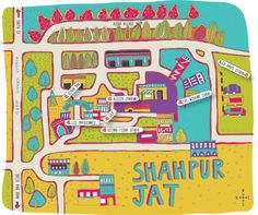 Shahpur Jat map by Play Clan for India Design ID 2013