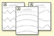 scissor skills worksheets: if kids are cutting too fast (jagged lines), print on thicker paper to slow them down