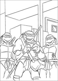 coloring page Ninja Turtles - Ninja Turtles