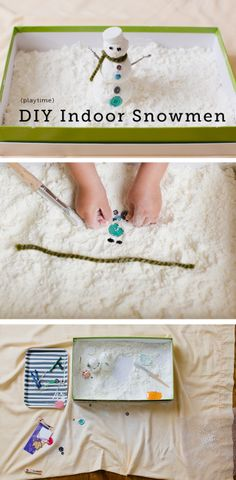 A great sensory project for having fun with indoor snow!