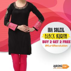 Black Is Back! Anybody can carry a #KurtiLook and Nail it! Full range---> http://www.jabongworld.com/women/kurtis.html?color=24&dir=desc&order=created_at?utm_source=ViralCurryOrganic&utm_medium=Pinterest&utm_campaign=BlackIsBack-27-aug2015 #WomenFashion #Kurti