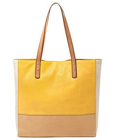Fossil Handbag, Zoey Leather Tote - Macy's