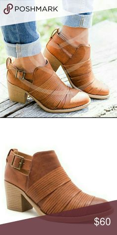"""Cut Out Booties Cut Out Booties   Vegan leather and side cut out.   Heel - 2.5""""  ● PRICE IS FIRM ● Shoes Ankle Boots & Booties"""