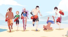 "prinzcake: ""voltron baewatch wanted to redraw that blooper lol """