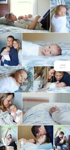 Family newborn love