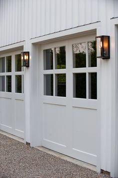 Custom garage door detail