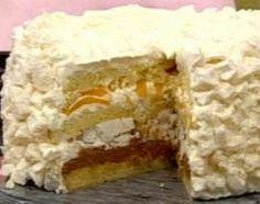 URUGUAY (CHAJÁ)  Los componentes del postre son: merengue, bizcochuelo, crema, forman este tipico postre Uruguayo.