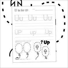 Free printables by Hibos the Owl.  #printables #freeschool #preschool #letters #letteroftheday  #letteru