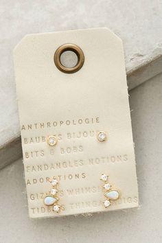 Anthropologie Opal Arc Earring Set