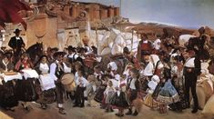 Joaquin Sorolla y Bastida The Bread Fiesta (Castile) - The Largest Art reproductions Center In Our website. Low Wholesale Prices Great Pricing Quality Hand paintings for saleJoaquin Sorolla y Bastida Spanish Painters, Spanish Artists, Valencia, A4 Poster, Poster Prints, Digital Museum, Getty Museum, Beach Scenes, Vintage Artwork