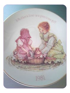 Vintage 1981 Holly Hobbie Collectible A Mother's by SparkleSet, $9.50