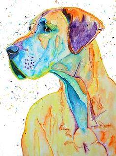 Original watercolour animal paintings – Malika Pet Art