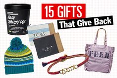 15 Awesome Holiday Gifts That Give Back!
