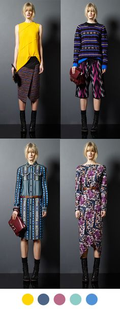 Great mix of ikats & ethnic prints!