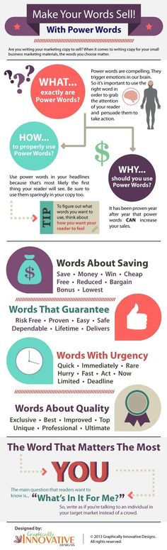 Top 32 Power Words That Will Really Sell Your Content #infographic