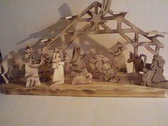 Weihnachtskripla mit ausgesägten Figuren Bastelanleitung zum...
