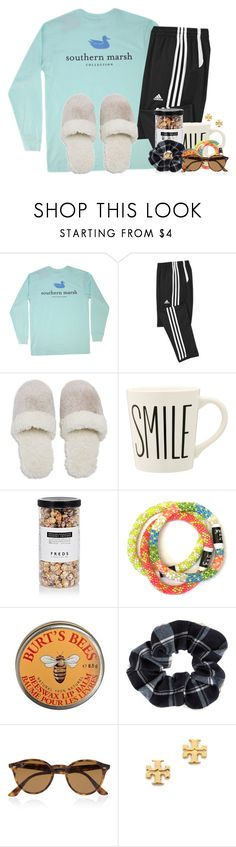 """Cozy homework session"" by flroasburn ❤ liked on Polyvore featuring Vineyard Vines, Natori, FREDS at Barneys New York, Burt's Bees, Accessorize, Ray-Ban and Tory Burch"