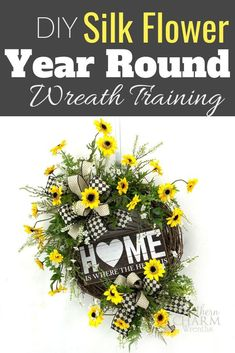 Hobby For Women DIY - Creative Hobby Room Organization - Hobby Ideas For College Students - Hobby To Try Ideas Silk Flower Wreaths, Silk Flowers, How To Make Wreaths, How To Make Bows, Wild Sunflower, Hobbies To Try, Year Round Wreath, Hobby Room, Hobby Lobby