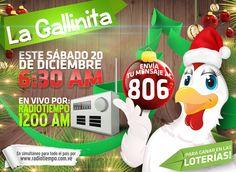 ¿Quieres #Ganar en la #Lotería este #Diciembre? #NoTePierdas este #Sábado el #Show de #Navidad de @LaGallinita806