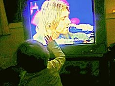 This is my baby niece while I was watching Nirvana Unplugged...(':