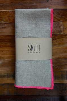 Neon Linen Napkins, Smith Handmade