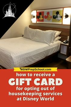 Want some extra $$$ during your Disney World vacation? You can opt out of housekeeping and get a gift card to use during your trip. Here's how. | #wdwprepschool #disneyworld #disneytips