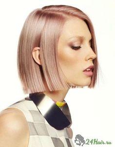 средняя стрижка прямые волосы