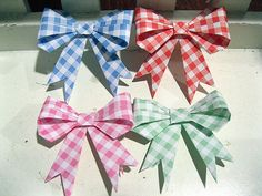 30 Plaid Patterned Origami Paper Bow Tie by myorigamiandyours, $12.50