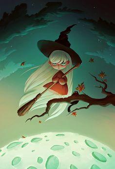 Halloween witch  Art Print