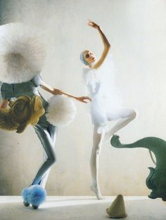 """""A Magic World"": Olga Sherer by Tim Walker for Vogue Italia, January 2008 """