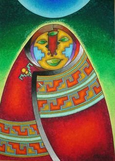 Pachamama - our blessed earth mother - love this beautiful art of our mama sita... wish i knew who the artist of this art was - let us know if you know, thx... inca inka pacha mama peru south america pachacuti pachamama mother earth