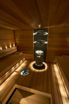 hotel arquitectura 47 coolste Sauna-Design-Ideen f - hotel Spa Design, House Design, Sauna Steam Room, Sauna Room, Sauna Lights, Modern Saunas, Piscina Spa, Sauna Seca, Sauna Shower