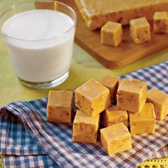 Pumpkin Fudge    This sweet treat combines pumpkin with white chocolate morsels, marshmallow crème, and chopped pecans to make a delicious new staple for the fall.