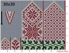 Crochet Mittens Free Pattern, Fair Isle Knitting Patterns, Knit Mittens, Knitting Charts, Knitted Gloves, Knitting Stitches, Baby Hats Knitting, Knitting Socks, Norwegian Knitting