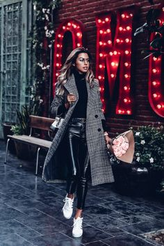 The One Coat You Will Need This Holiday Season - tweed black and white coat