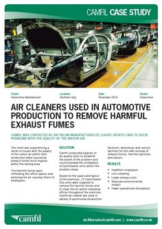 Air Cleaners Used in Automotive Production to Remove Harmful Exhaust Fumes http://www.air-cleaner.co.uk/air-cleaners-used-automotive-production-remove-harmful-exhaust-fumes/