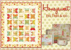 Moda Fabrics United Notions Honeysweet by Fig Tree & Company #Quilt #Sew #FigTree #California #Autumn #Fabric