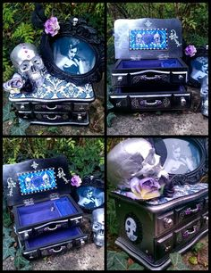 Gothic burlesque jewellery box