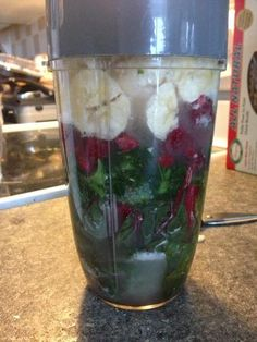#nutribullet Breakfast! Swiss chard, broccoli, kale, raspberries, banana, Udo's oil, cinnamon, stevia, whey protein & water! #nutriblast