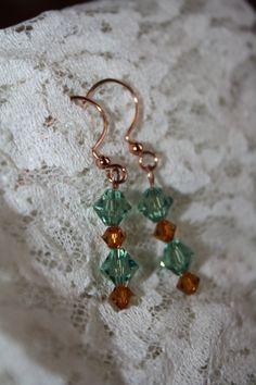 Swarovski Crystal Drop Earrings by christineconrad on Etsy, $8.00